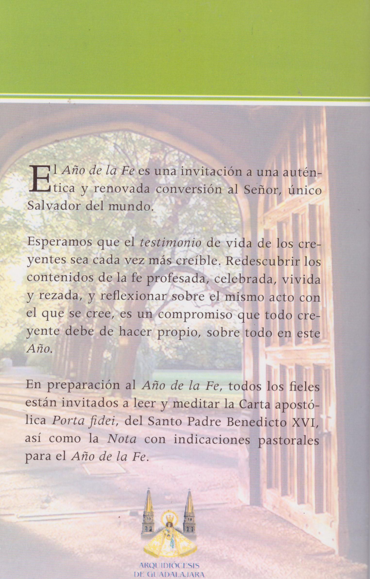 Documentación para vivir el Año de la Fe