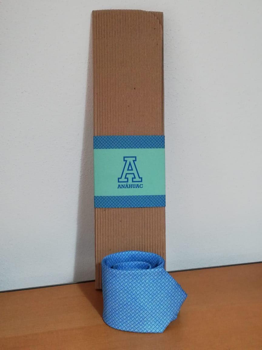 Corbata azul Anáhuac