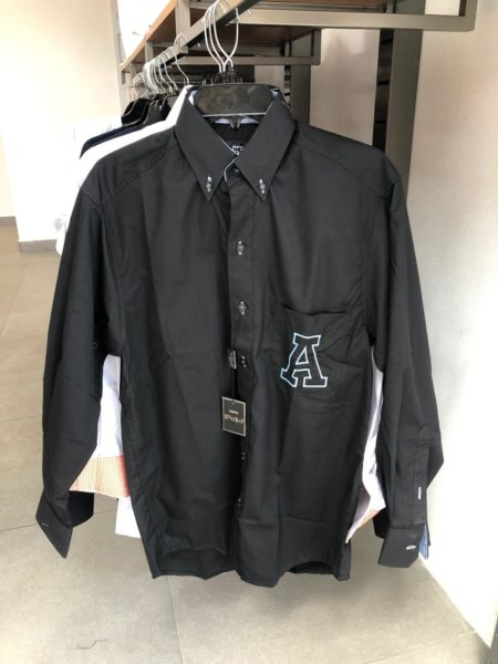 Camisa negra y azul Anáhuac G