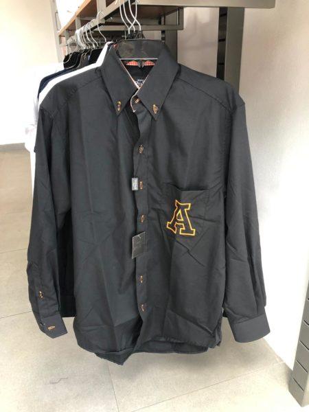 Camisa negra y naranja Anáhuac CH