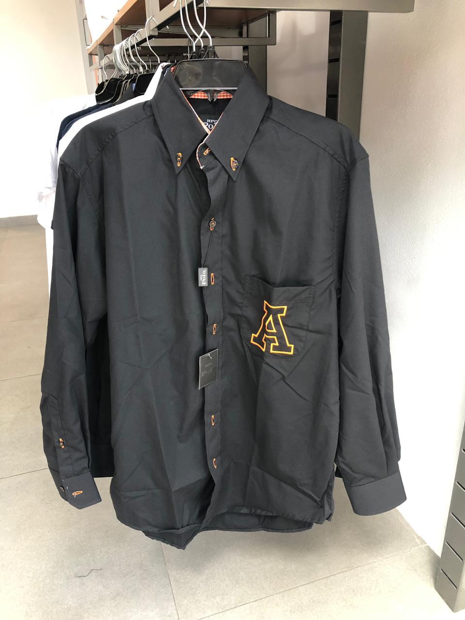 Camisa negra y naranja Anáhuac G
