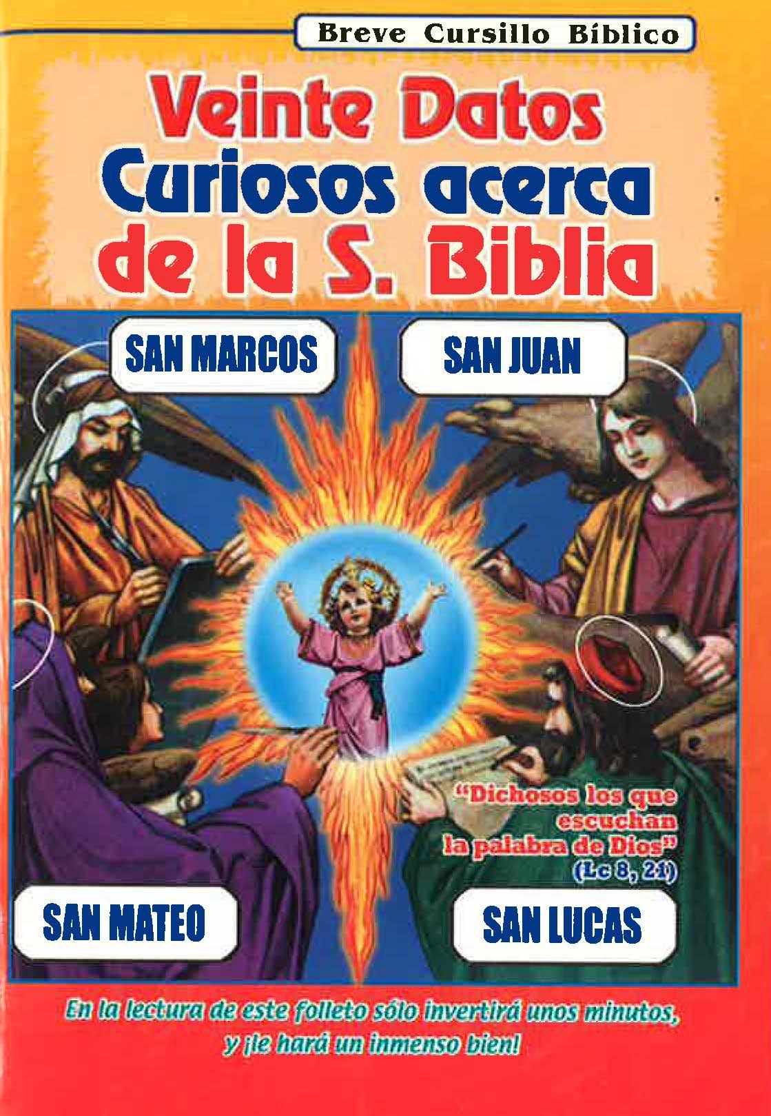 Veinte datos curiosos acerca de la S. Biblia